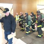 Chief Freddie performing high rise training in San Francisco and other fire test prep