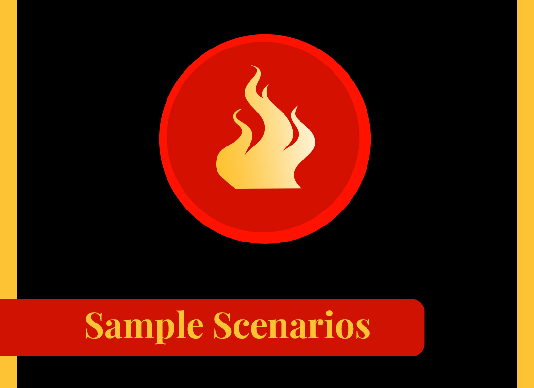 Sample scenario online fire training courses